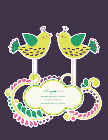 cute frame design for greeting card. vector illustration Stock Vector - 27422099