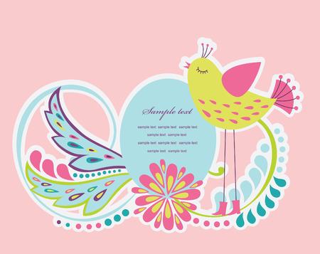 cute frame design for greeting card. vector illustration Stock Vector - 27422107