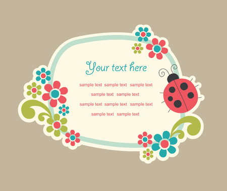 cor: cute frame design. vector illustration