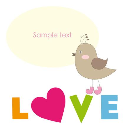 cute bird. vector illustration Illustration