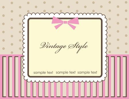frame design for vintage greeting card. vector illustration Vector