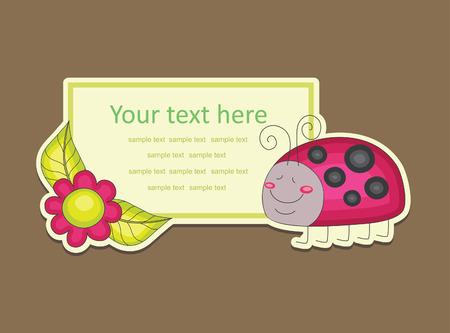 ladybird: cheerful ladybird. vector illustration