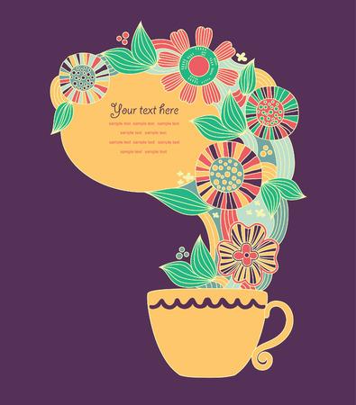 teatime: cute teatime card. vector illustration Illustration