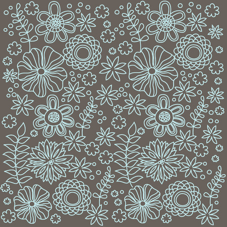 abstract floral: floral pattern. vector illustration