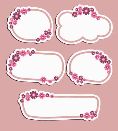 set of floral banners. vector illustration Vector