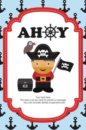 Conception de la carte pirate. illustration vectorielle Banque d'images - 27737601