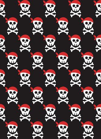 ahoy: pirate seamless pattern design. vector illustration Illustration