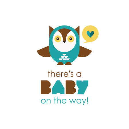 welcome baby card. vector illustration Vector