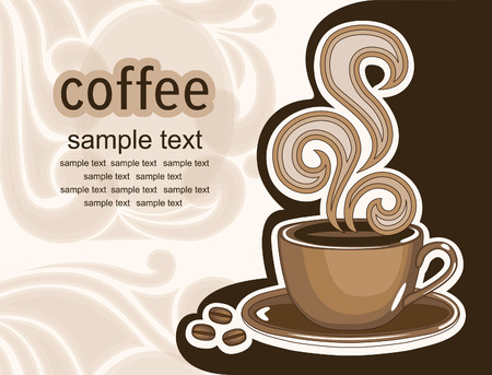 cup of coffee. abstract background. vector illustration Vector