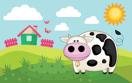 farm landscape. vector illustration Vector