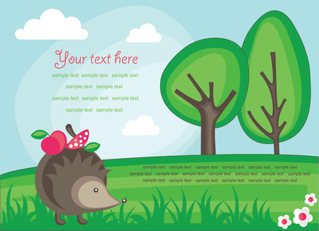 cute nature scene. vector illustration Vector