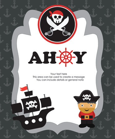 pirate card design. vector illustration Vector
