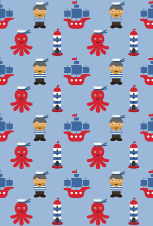 sea pattern design. vector illustration Vector