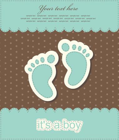 baby boy announcement card. vector illustration Vector