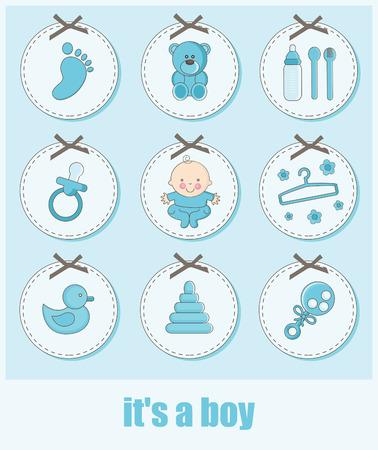 Satz von Baby-Objekte. Vektor-Illustration Vektorgrafik