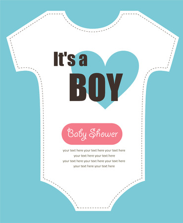 baby announcement card: cute baby shower design.