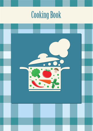 cooking book: cooking book cover.  Illustration