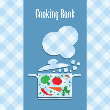 cooking book cover.  Vector