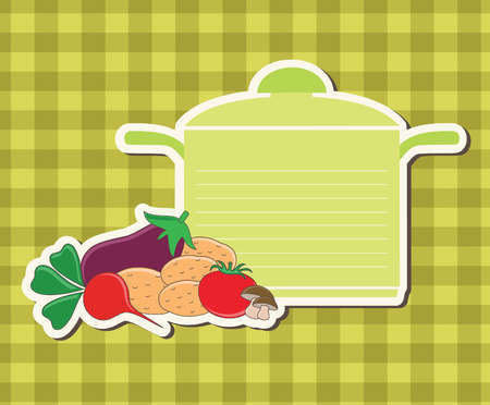 recipe label.  Vector