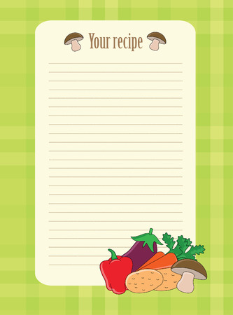 cute recipe label.  Vector
