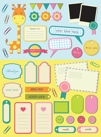 cute elements for scrapbooking.  Vector