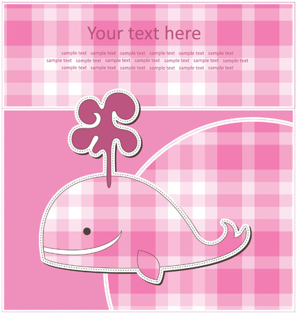 baby greeting card.  Vector