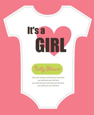 baby shower invitation: cute baby shower design. Illustration