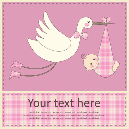 baby announcement card: baby girl announcement card.