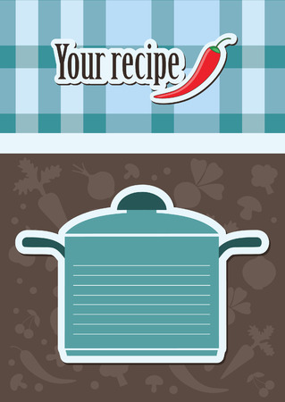 cute recipe card.  Vector
