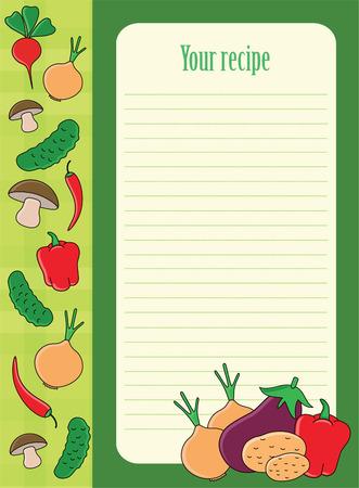 readymade: cute recipe label. Illustration