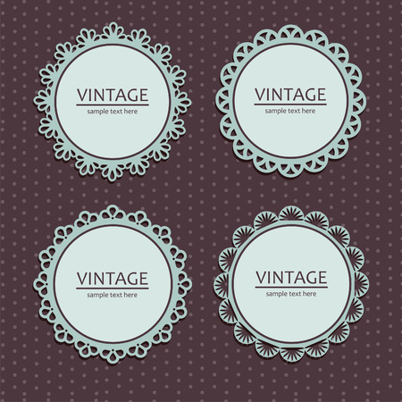border vintage: vintage lace frames.