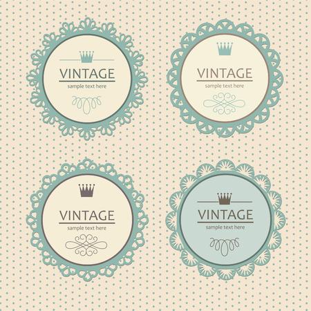 lace pattern: vintage frame design.