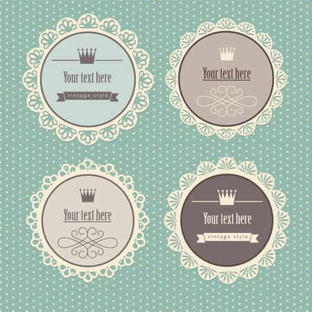 lace border: vintage frame design.