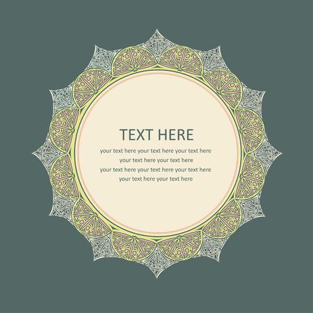 cute lace frame.  Illustration