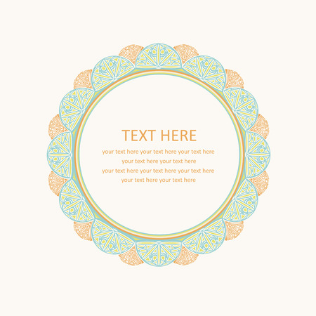 buttercup  decorative: cute lace frame.  Illustration