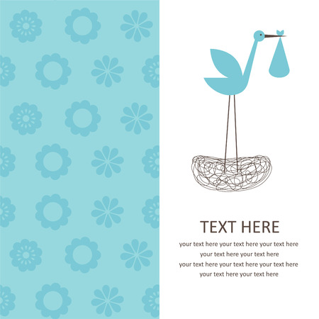baby boy announcement card.  Vector