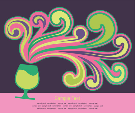 trendy background with cocktail.  Vector