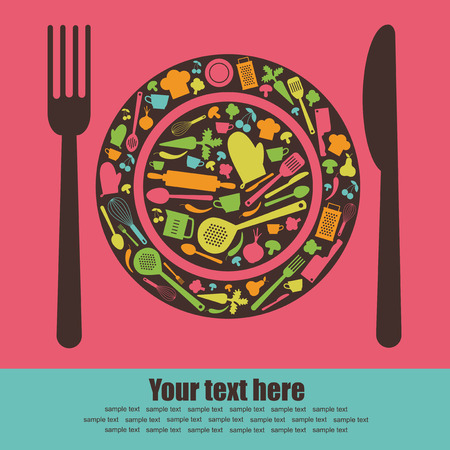 mincer: cute recipe card.  Illustration