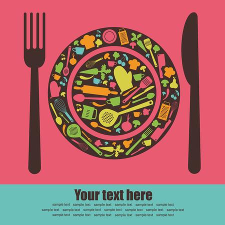 cute recipe card.  Illustration