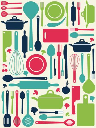the knife: patr�n de la cocina lindo.
