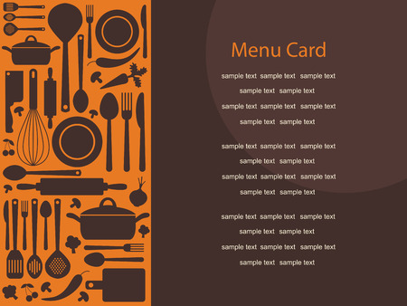 cute menu card. Vector