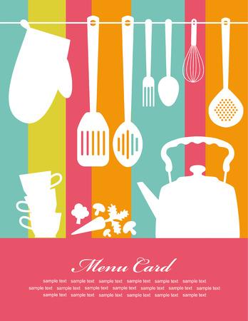 food background: recipe card.