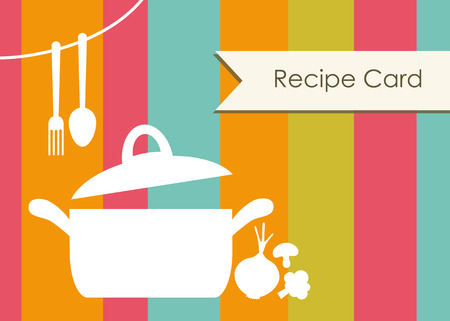recipe card.  Vector
