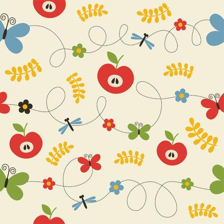 seamless childlike pattern.  Vector