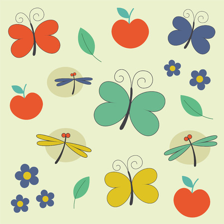 seamless childlike pattern.  Vector