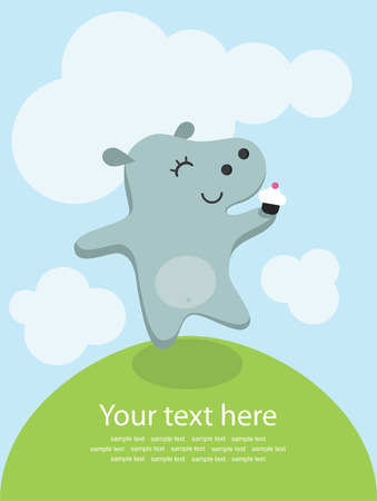 cute greeting card.  Vector
