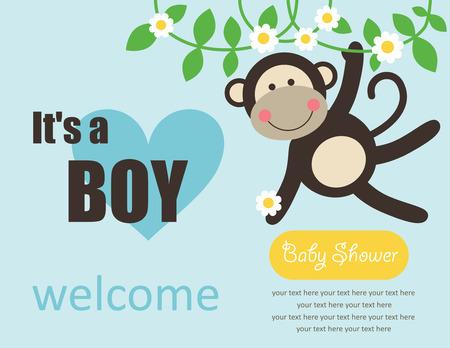 baby boy cartoon: cute baby boy shower.
