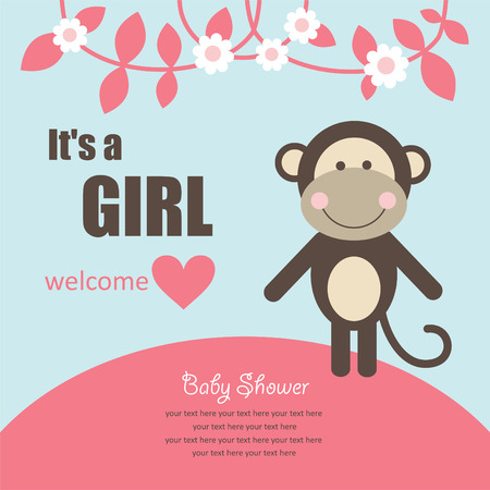 cute baby girl shower. Vector
