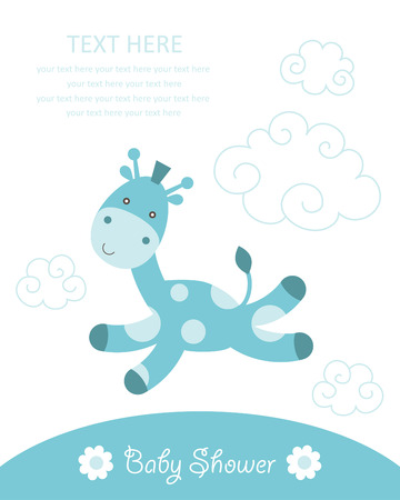 cute baby boy shower.  Vector