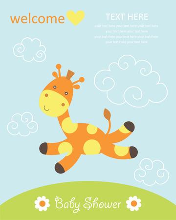 baby animals: cute baby shower design. Illustration